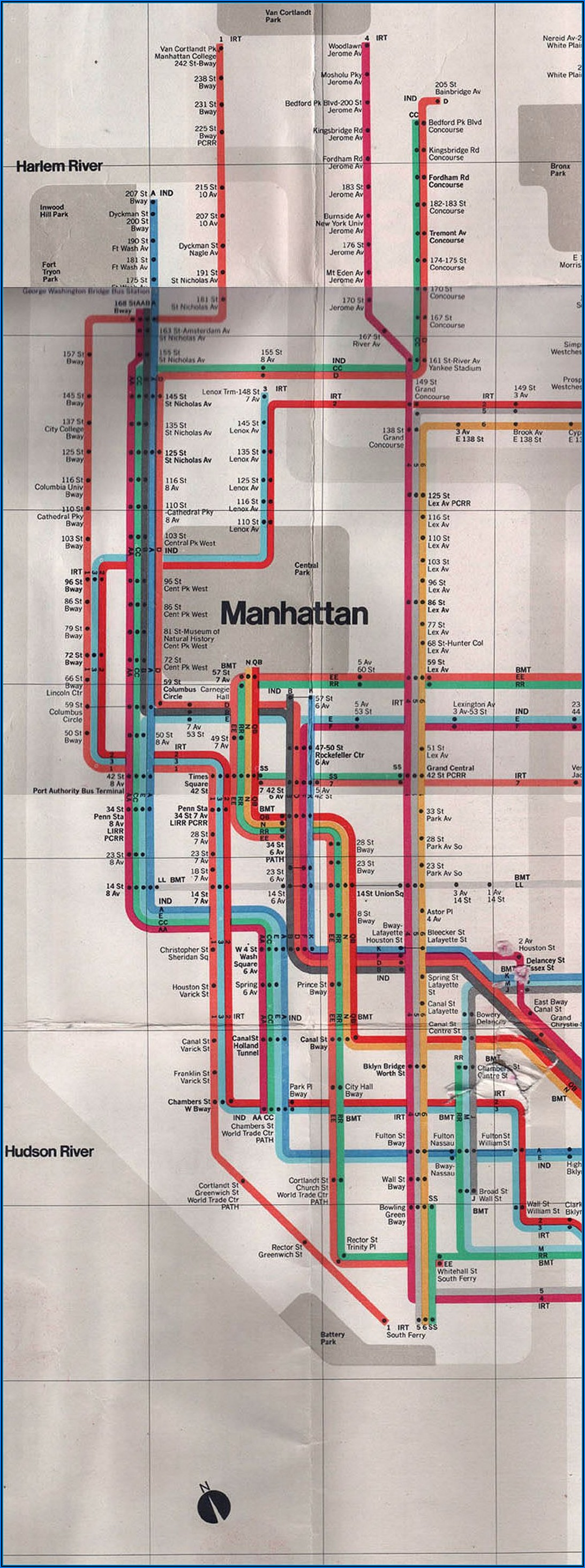 Subway Map Of Manhattan New York