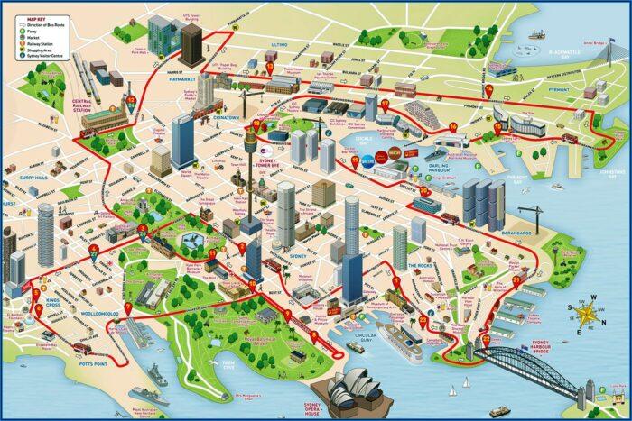 Sydney Big Bus Hop On Hop Off Map