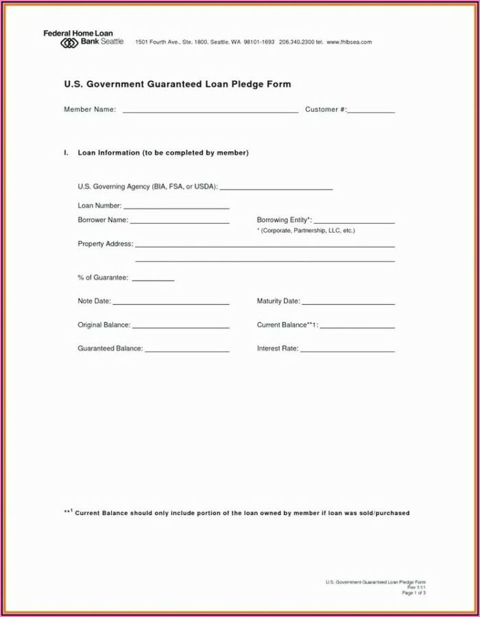 Unsecured Loan Agreement Template