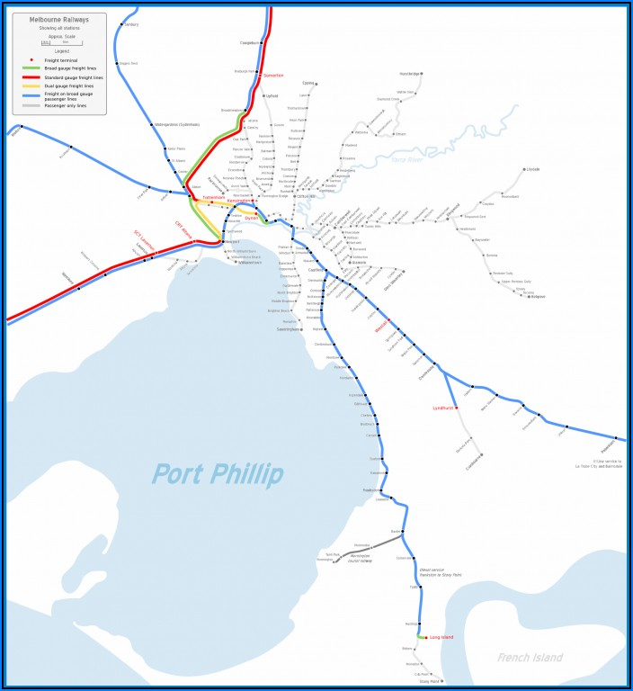 Vic Metro Rail Map