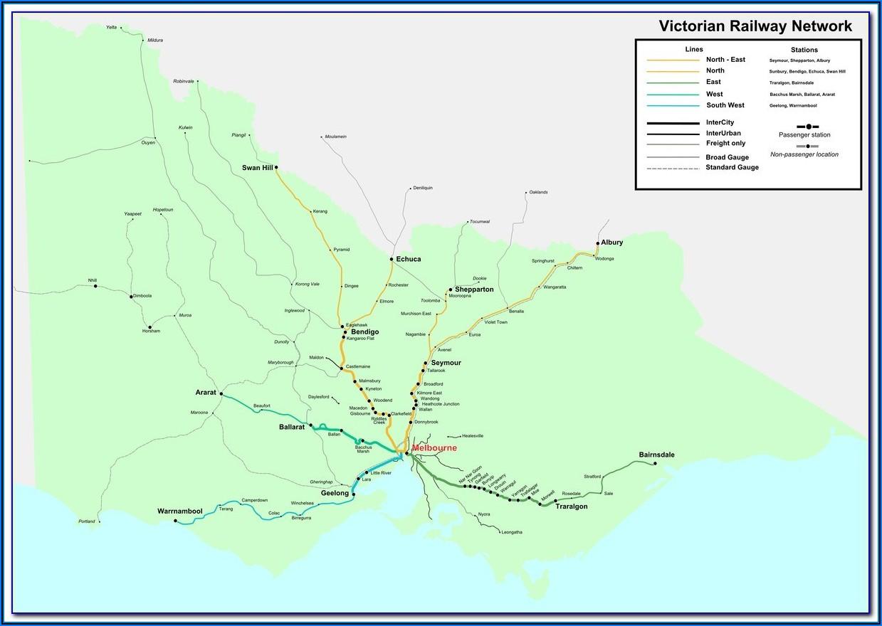 Vic Rail Map