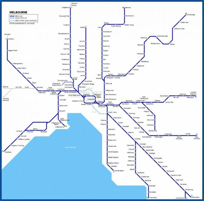 Vic Rail Train Map