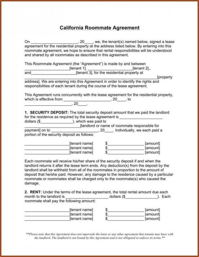 Washington State Rental Agreement Form Pdf