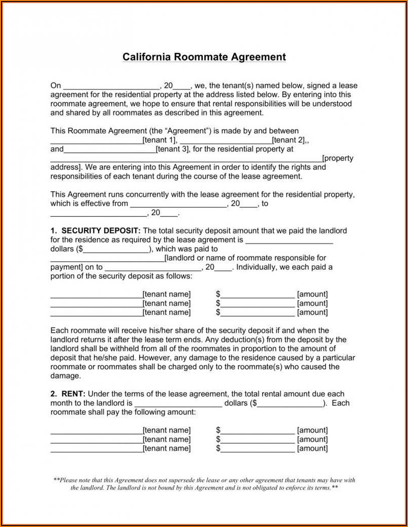 Washington State Rental Agreement Form Pdf