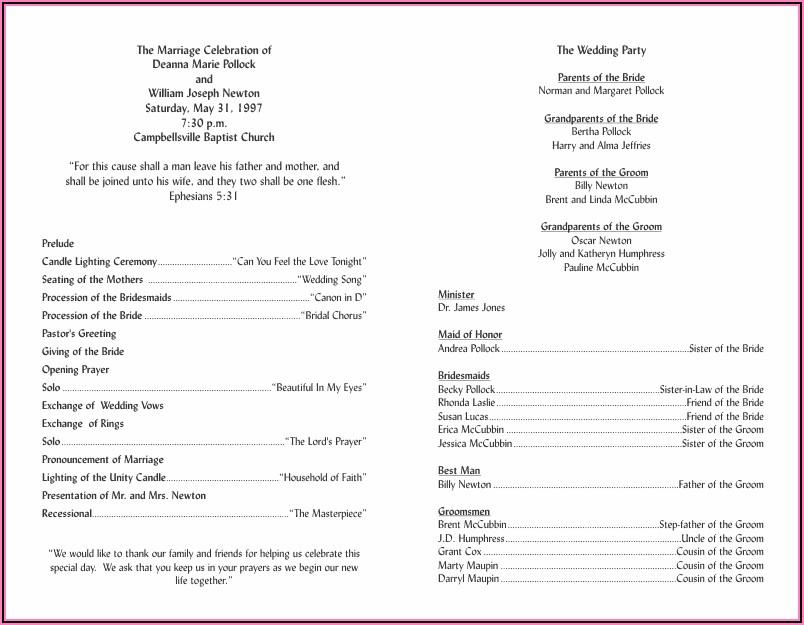Wedding Ceremony Brochure Templates