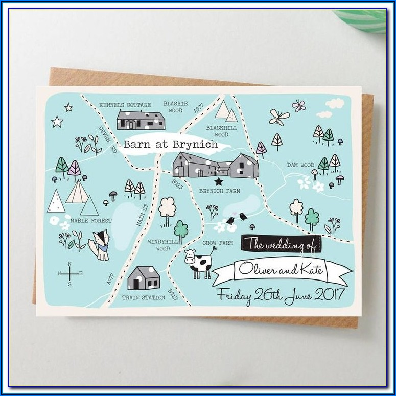 Wedding Invitations With Map Theme