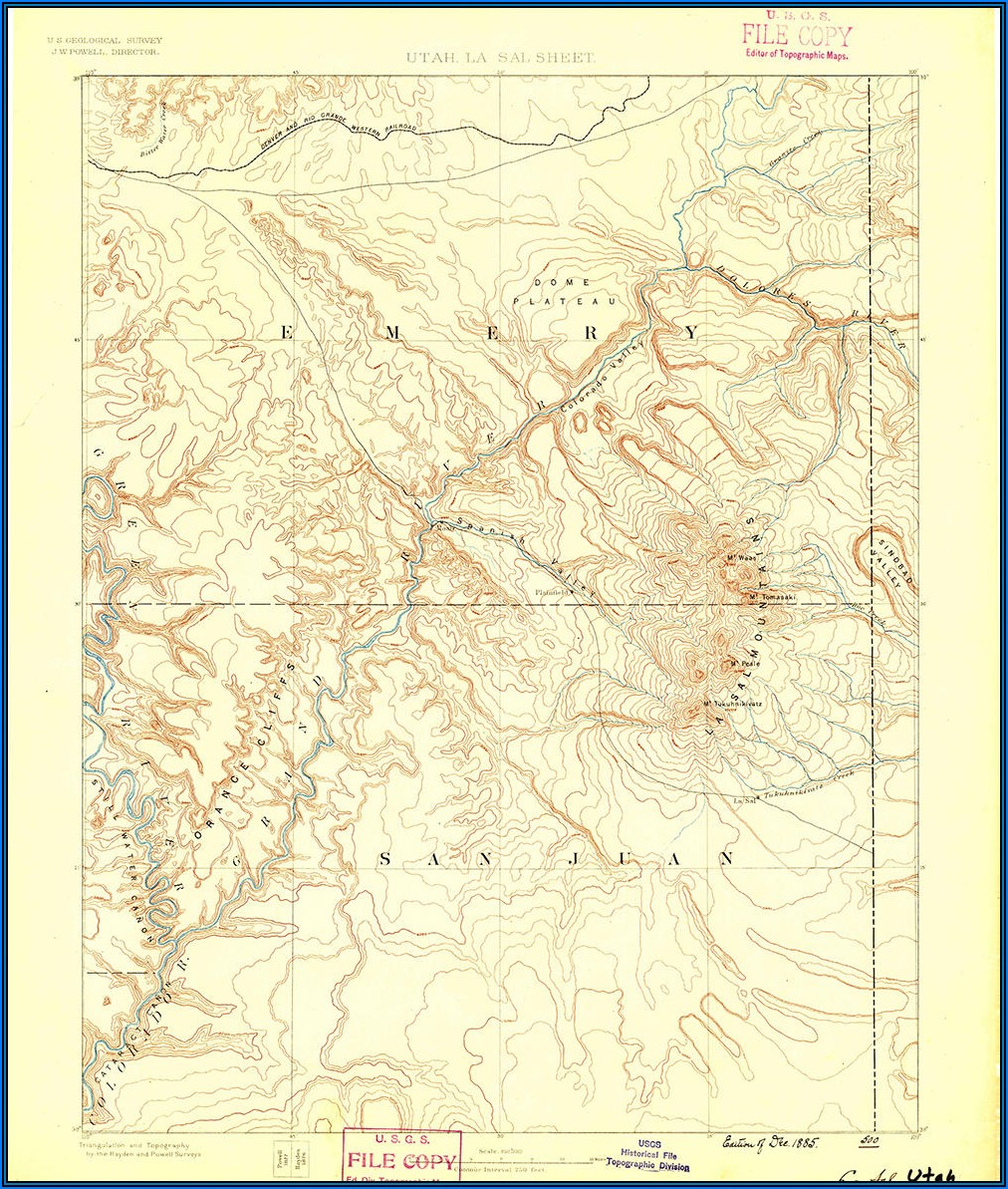 Where To Buy Topo Maps Utah