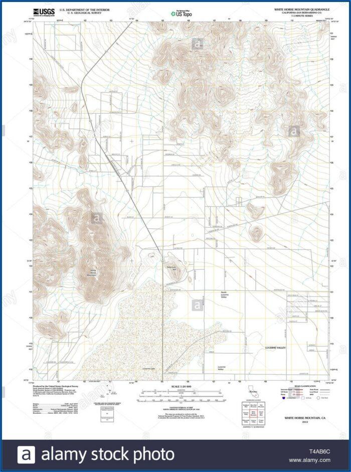 White Mountain Topo Map
