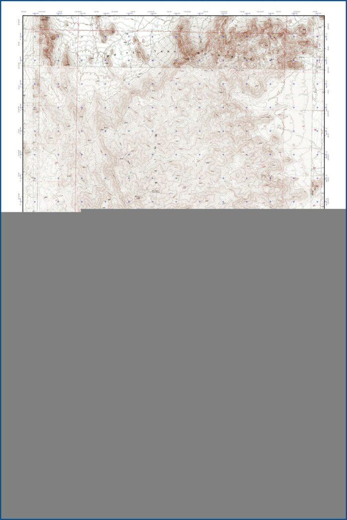 White Mountains Topo Map