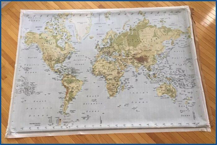 World Map On Canvas Ikea Australia