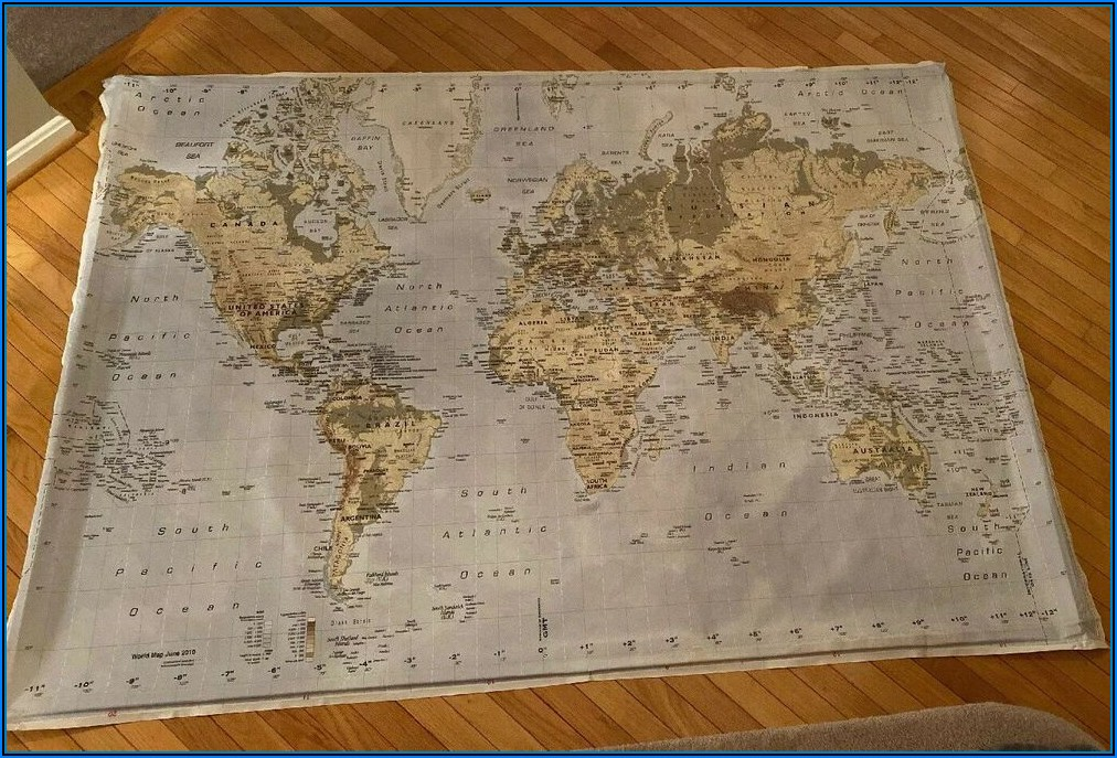 World Map On Canvas Ikea