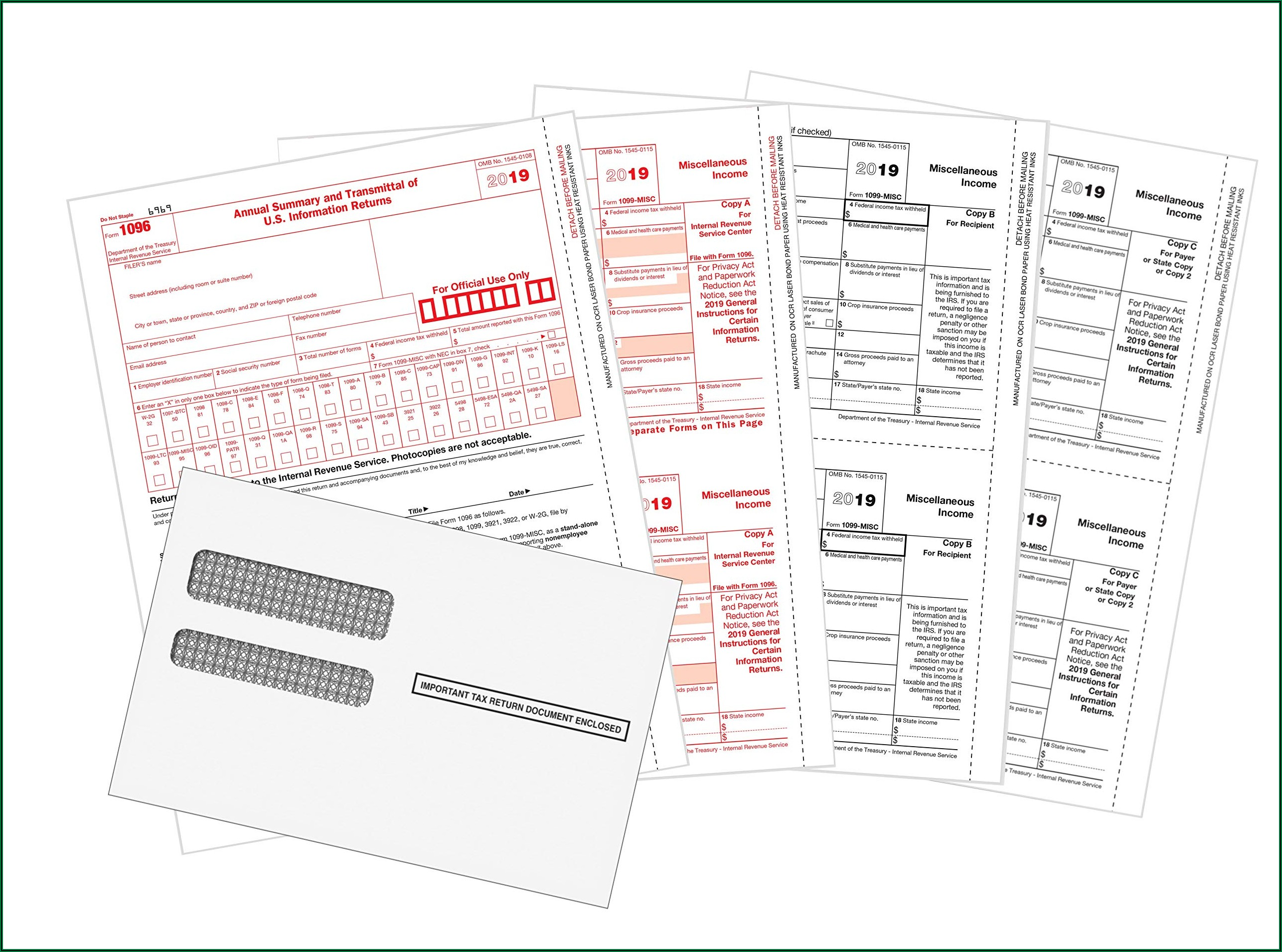 1099 Forms Irs 2019