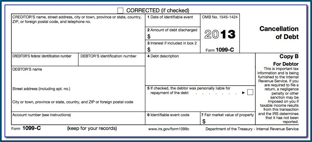 1099 Misc Form 2013 Template