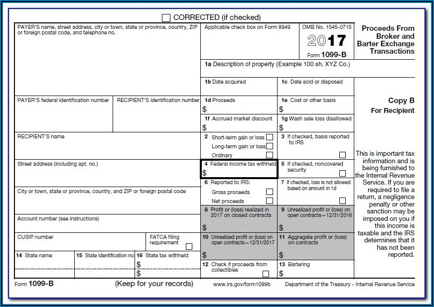 1099 Misc Form Template