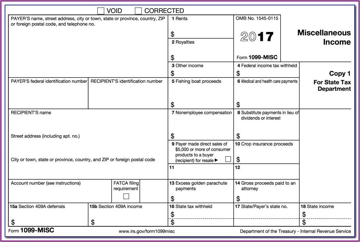 2015 Printable 1099 Tax Form