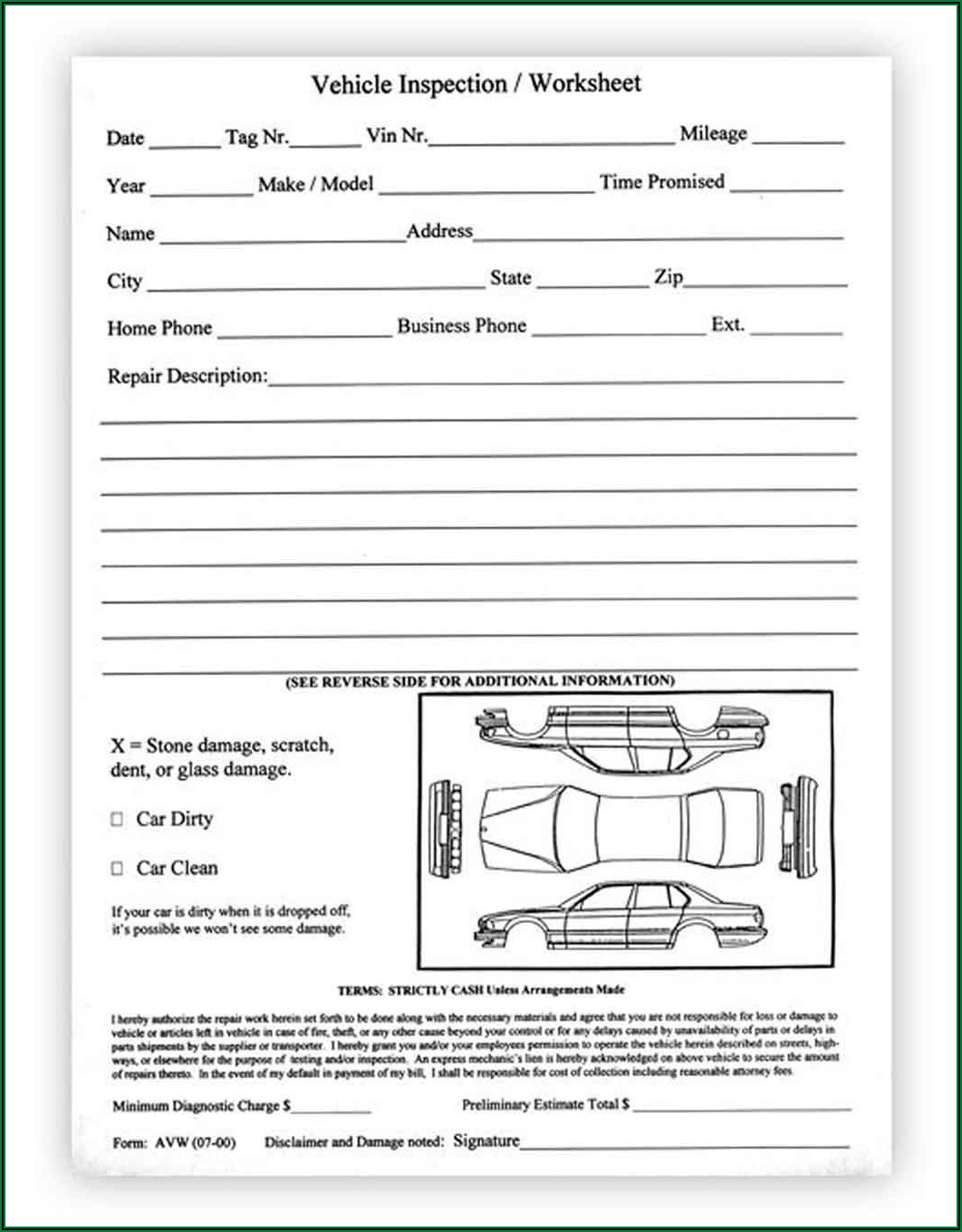 3 Part Vehicle Transport Bill Of Lading Form