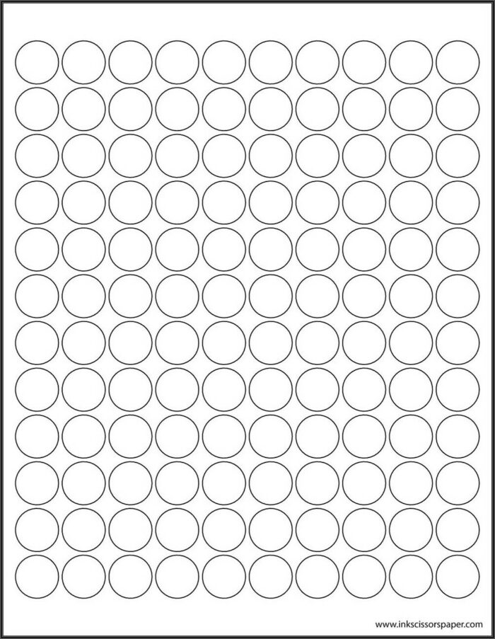 34 Inch Round Label Template