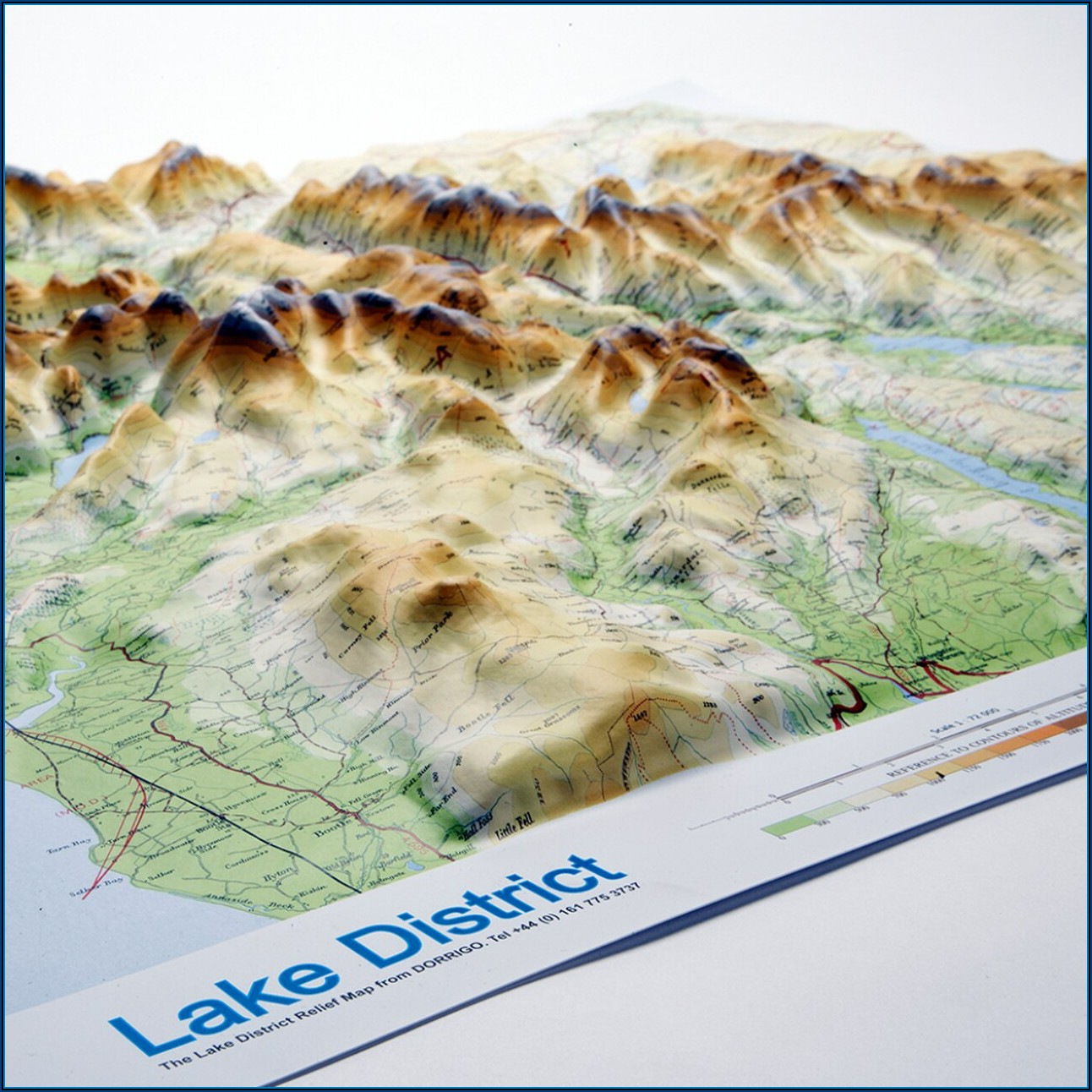 3d Relief Map Lake District