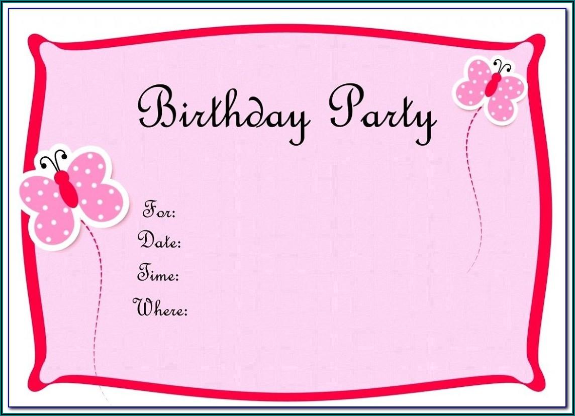 40th Birthday Party Invitation Templates Word