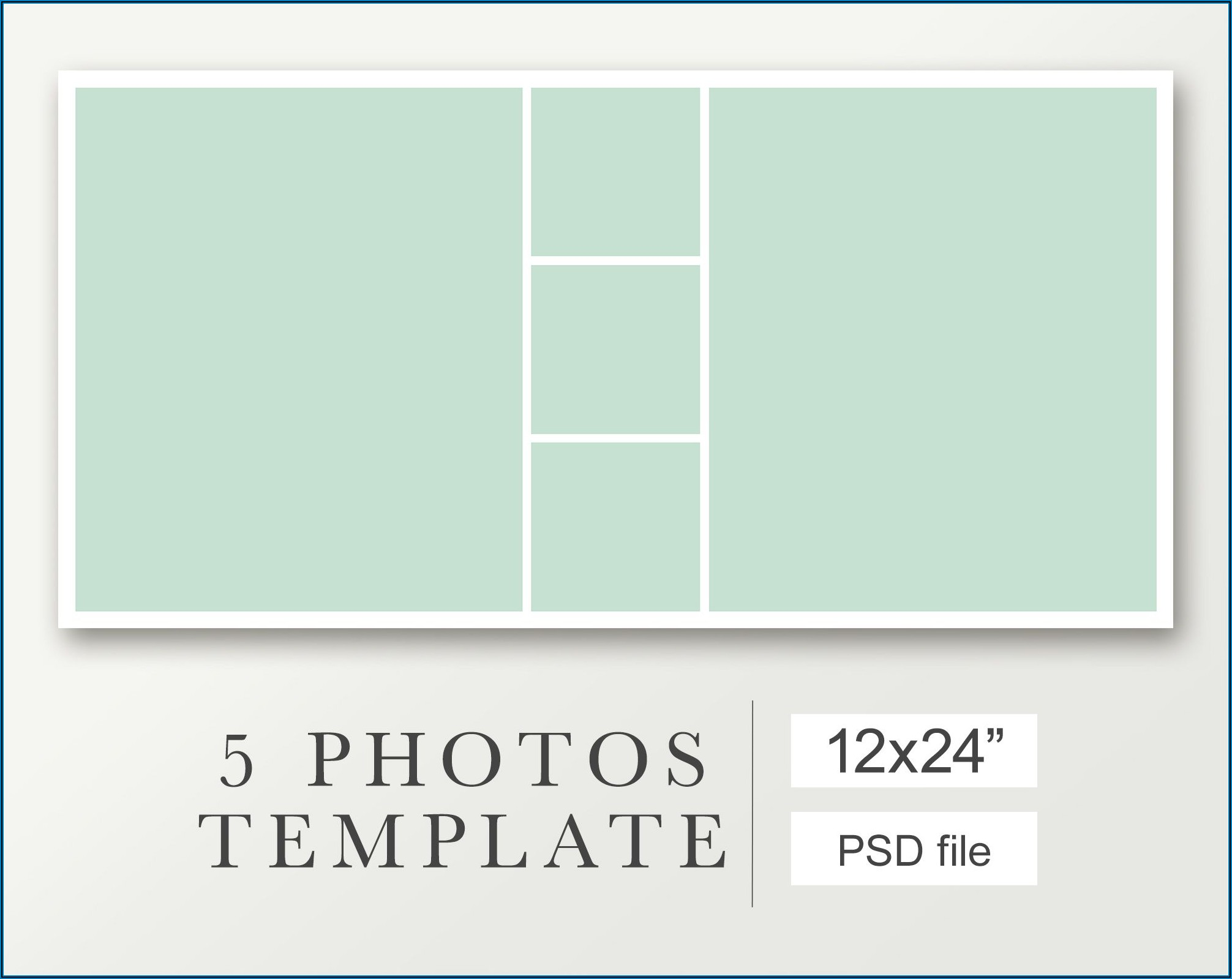 5 Pictures Collage Template