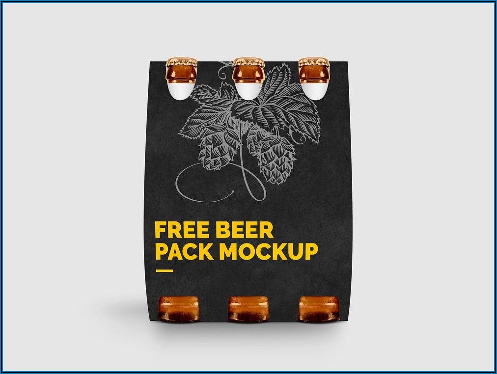 6 Pack Beer Bottle Carrier Mockup Template