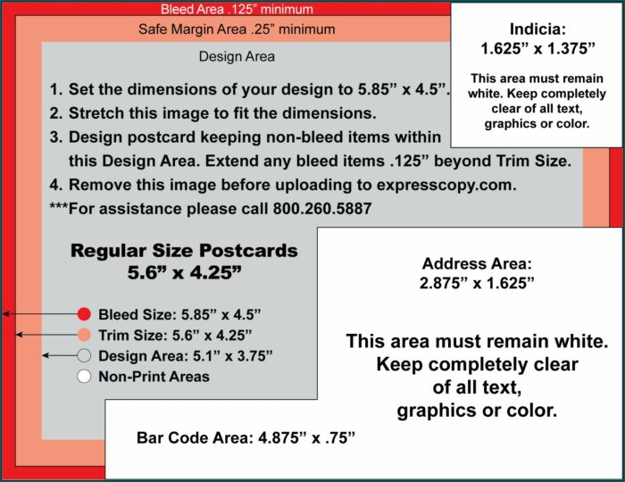 6x4 Postcard Mailing Template