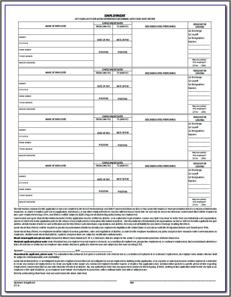 Aldi Recruitment Application Form