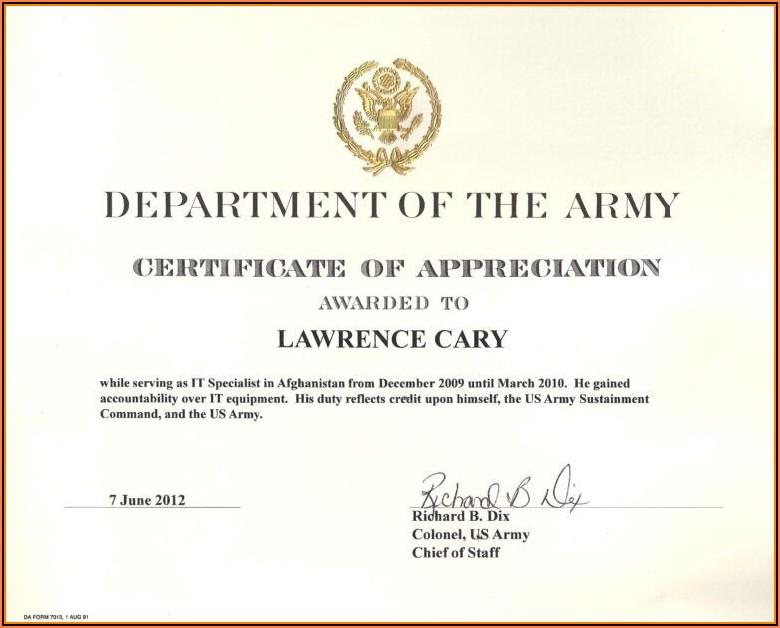 Appreciation Certificate Templates Pdf