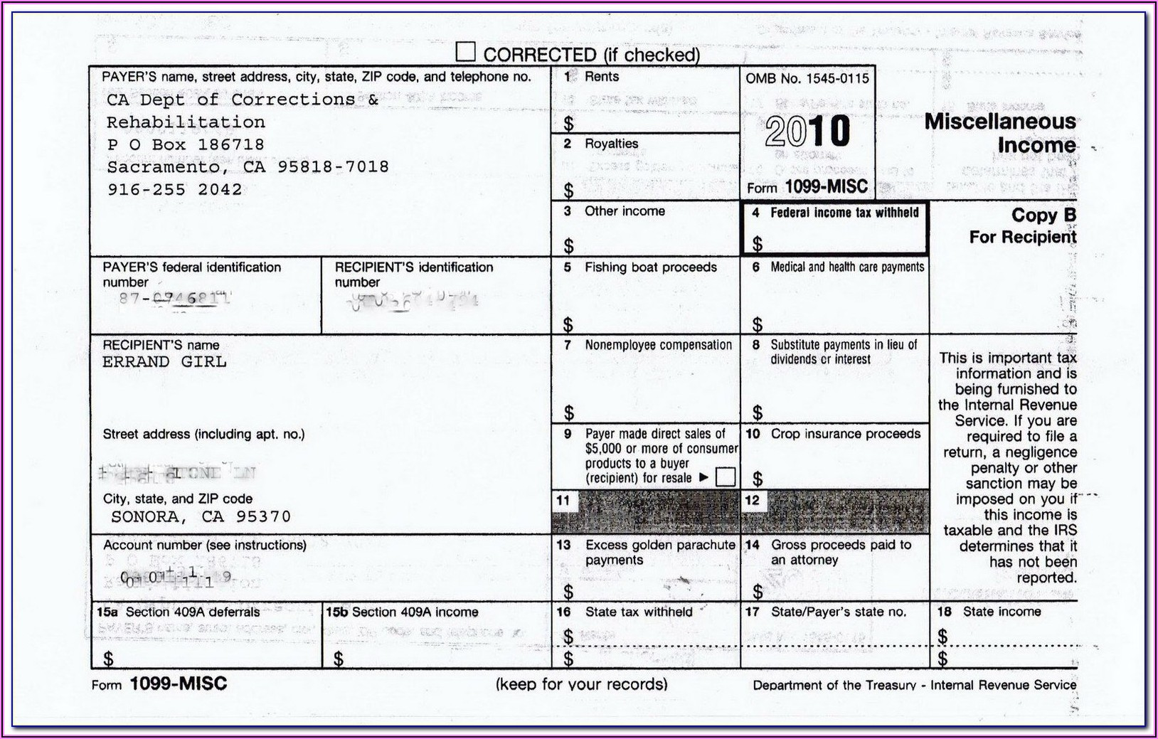 Arizona 1099 Form 2019
