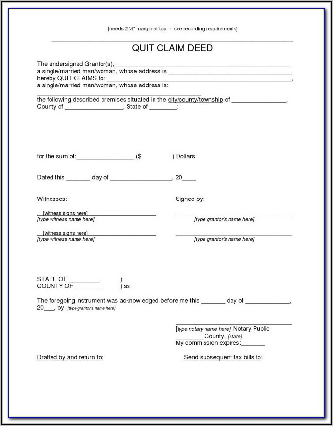 Arizona Quit Claim Deed Form Free