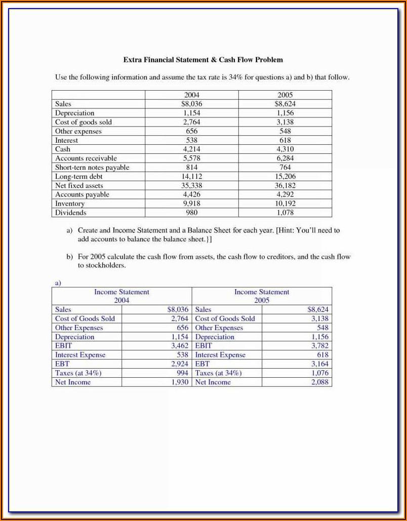 Asset Balance Sheet Template