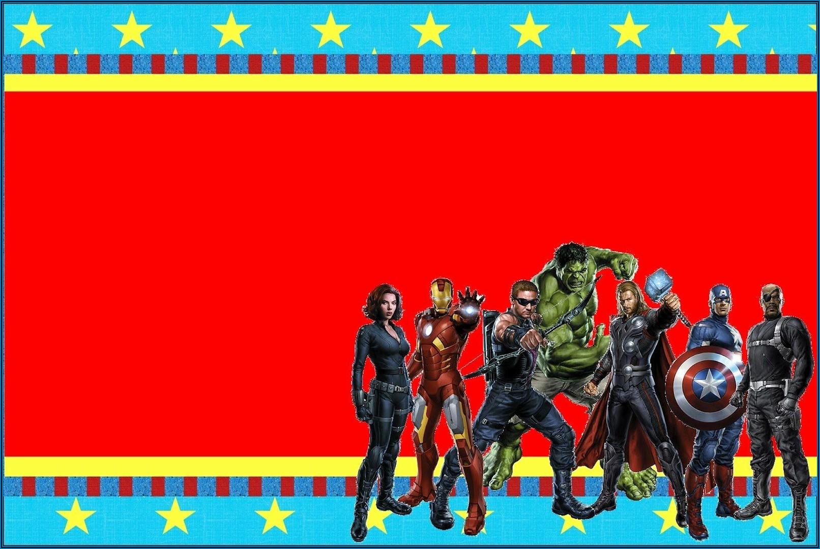 Avengers Birthday Invite Free