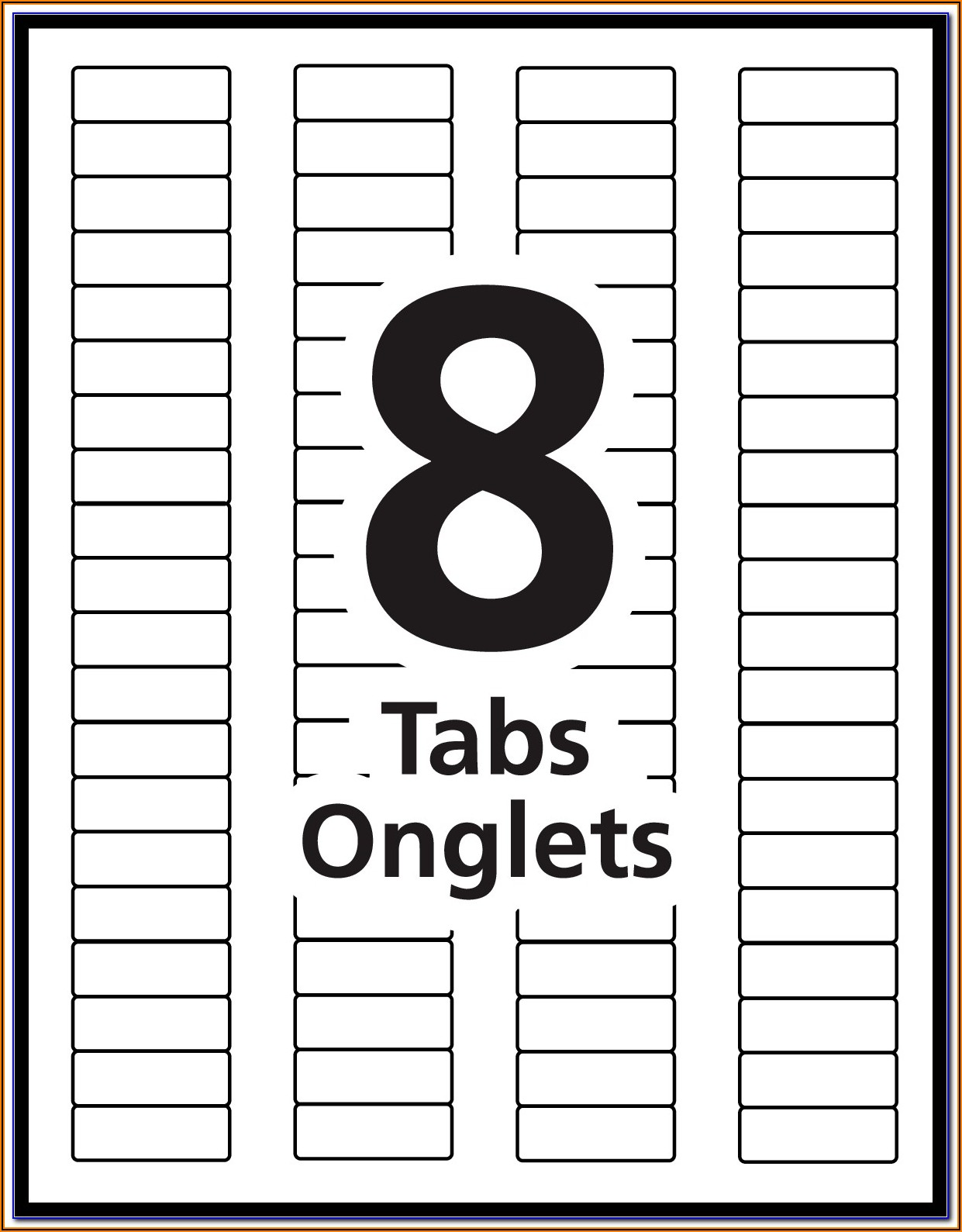 Avery Index Maker 5 Tabs Template