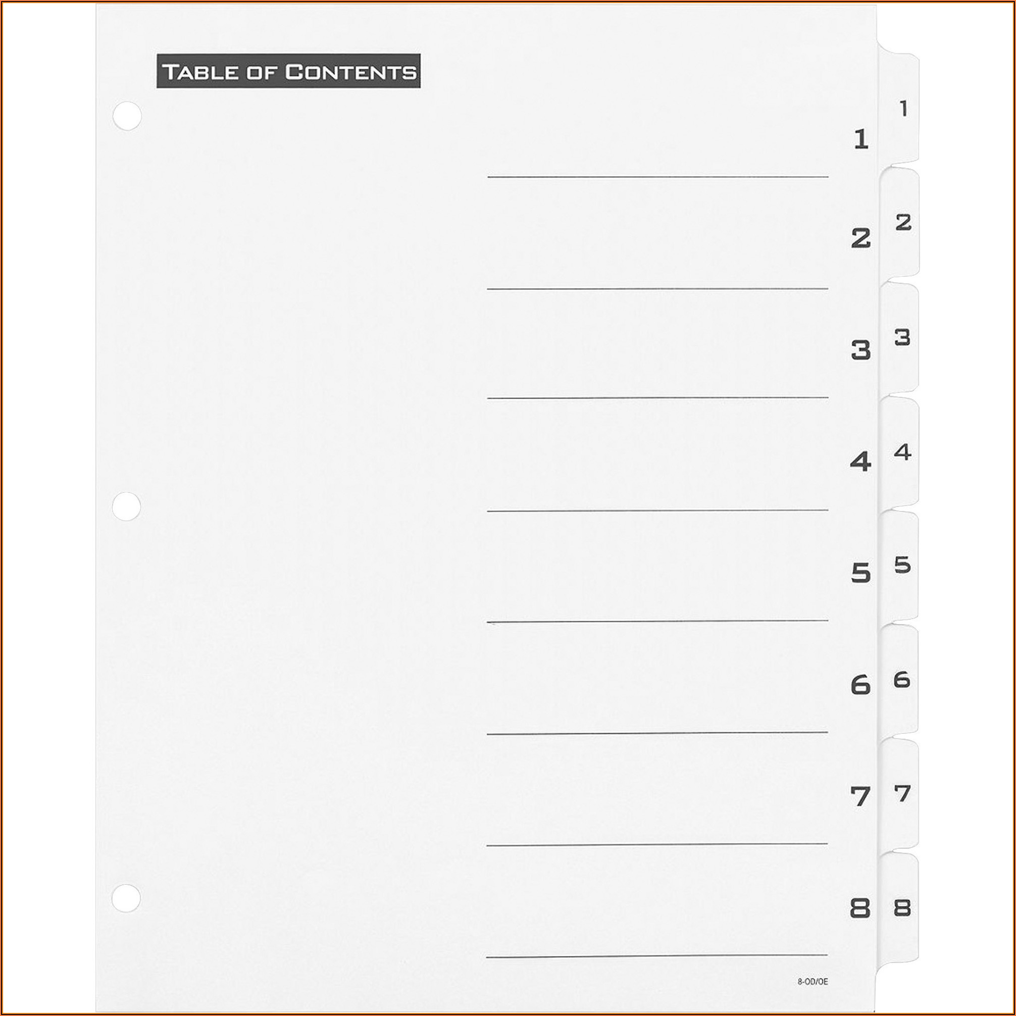 Avery Index Maker Clear Label Dividers 12 Tab Template