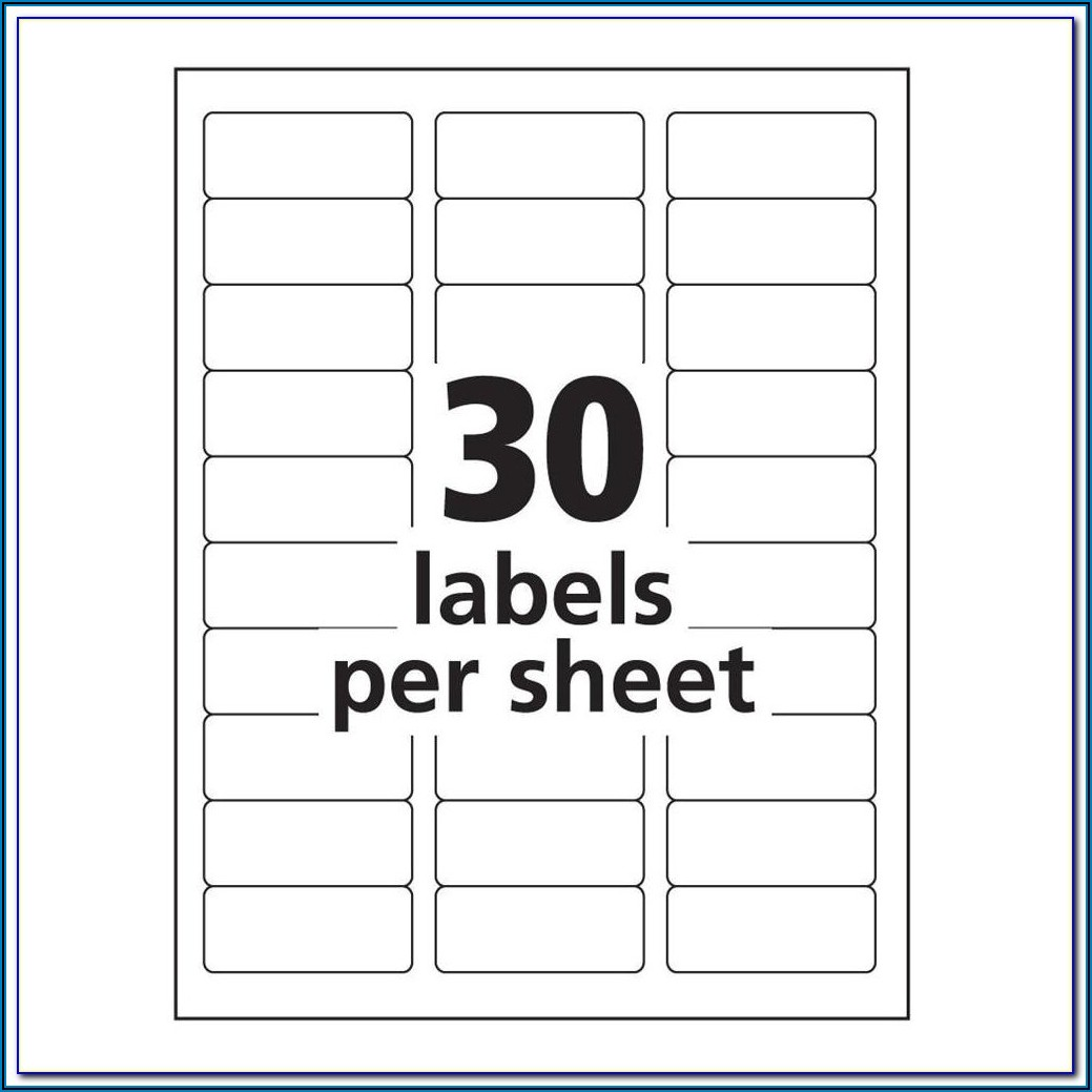Avery Template For 5160 Labels Word