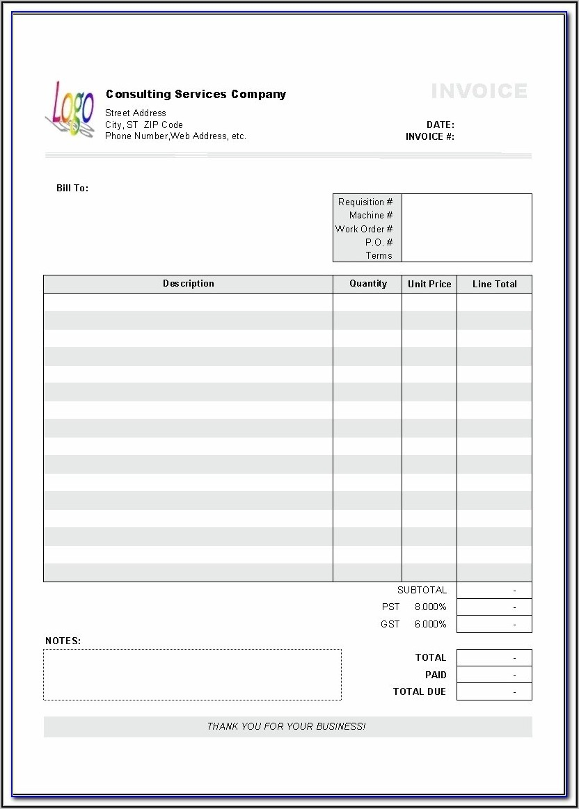 Aynax Free Invoice Template