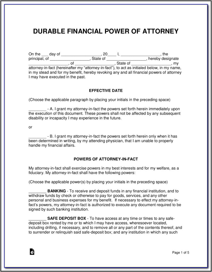 Az Medical Power Of Attorney Form