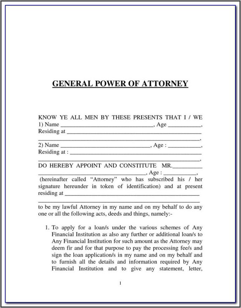 Az Power Of Attorney Form