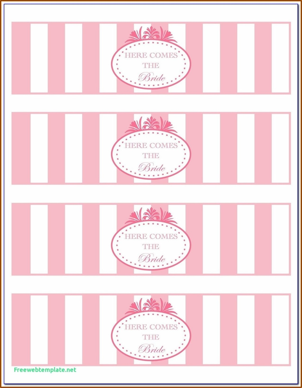 Baby Shower Address Labels Template Free
