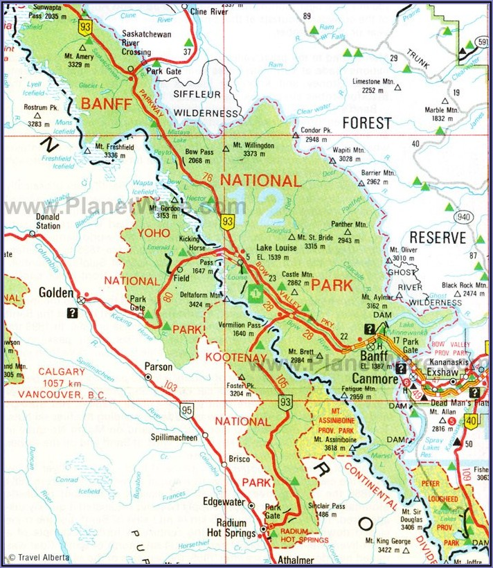 Banff National Park Hiking Map Pdf