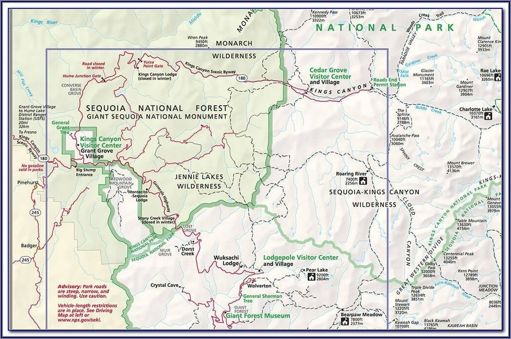 Banff National Park Hiking Map