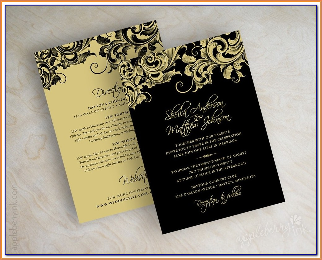 Black And Gold Business Card Templates Free