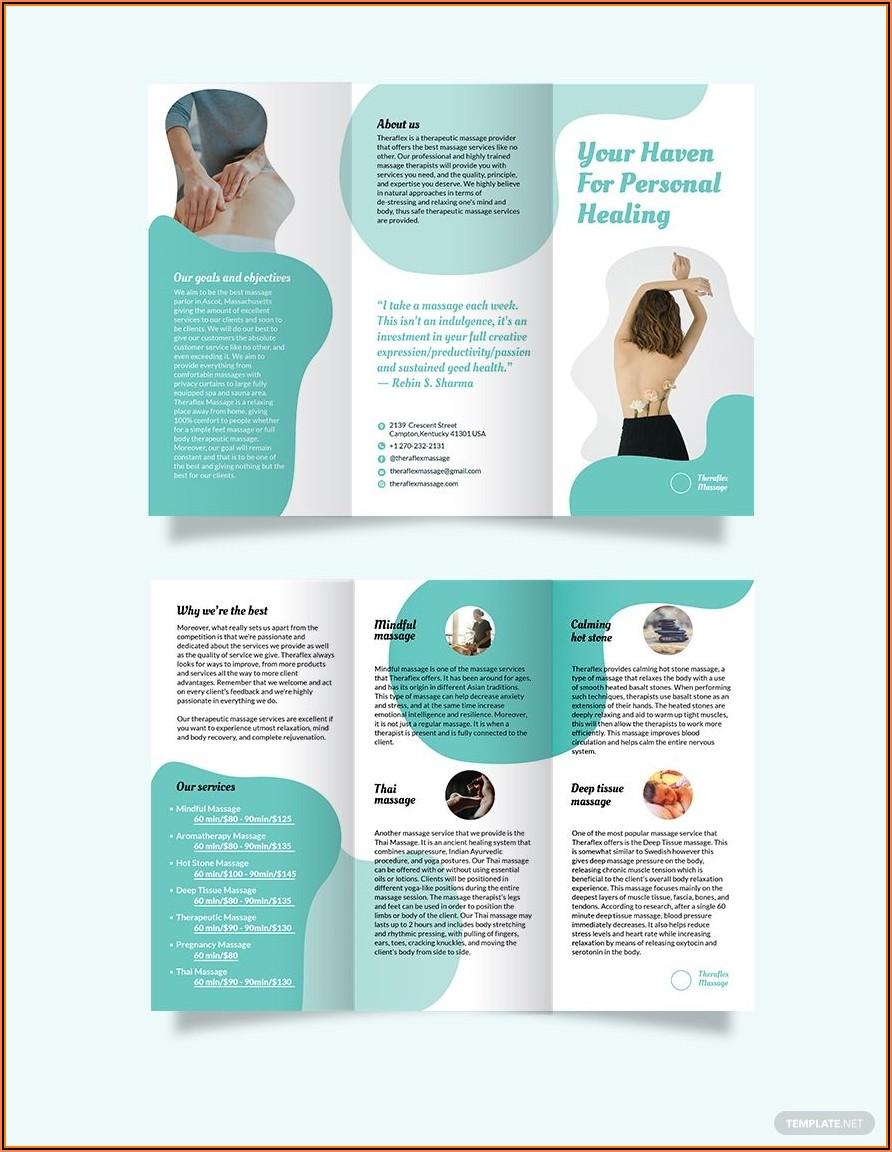Brochure Template Tri Fold Word
