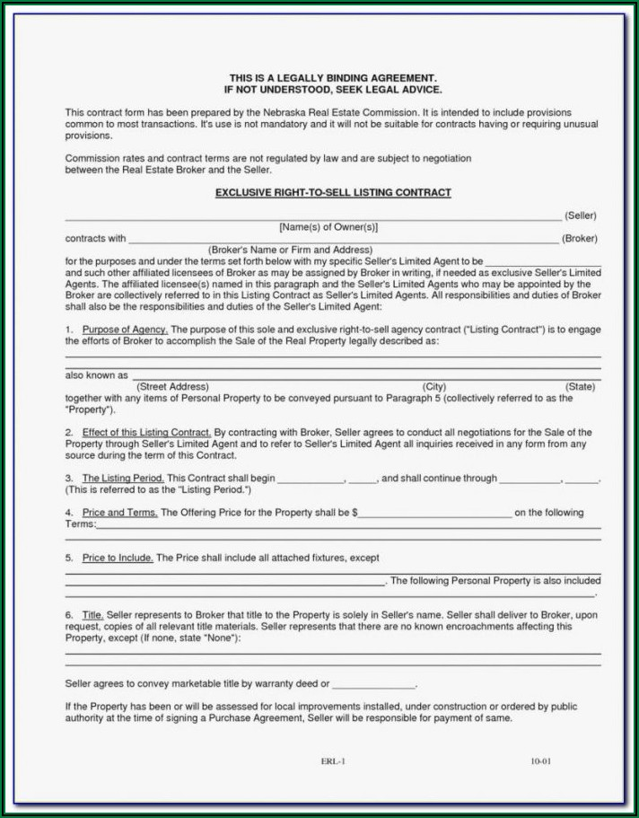 Brokerage Agreement Form
