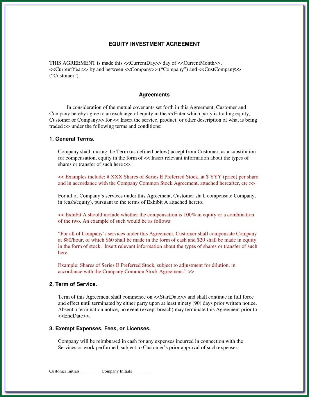 Brokerage Agreement Format