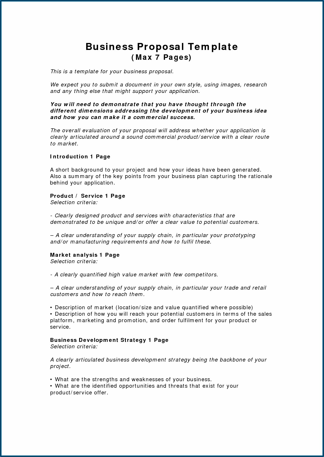 Business Proposal Sample Free Download