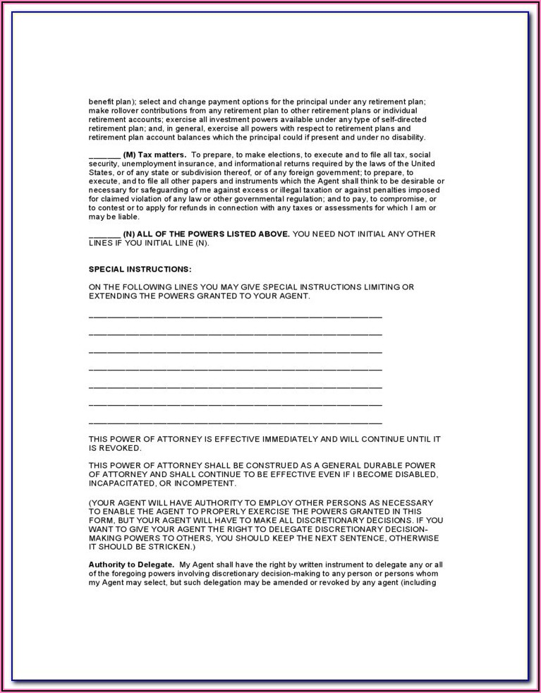 California Durable Power Of Attorney Form 4401
