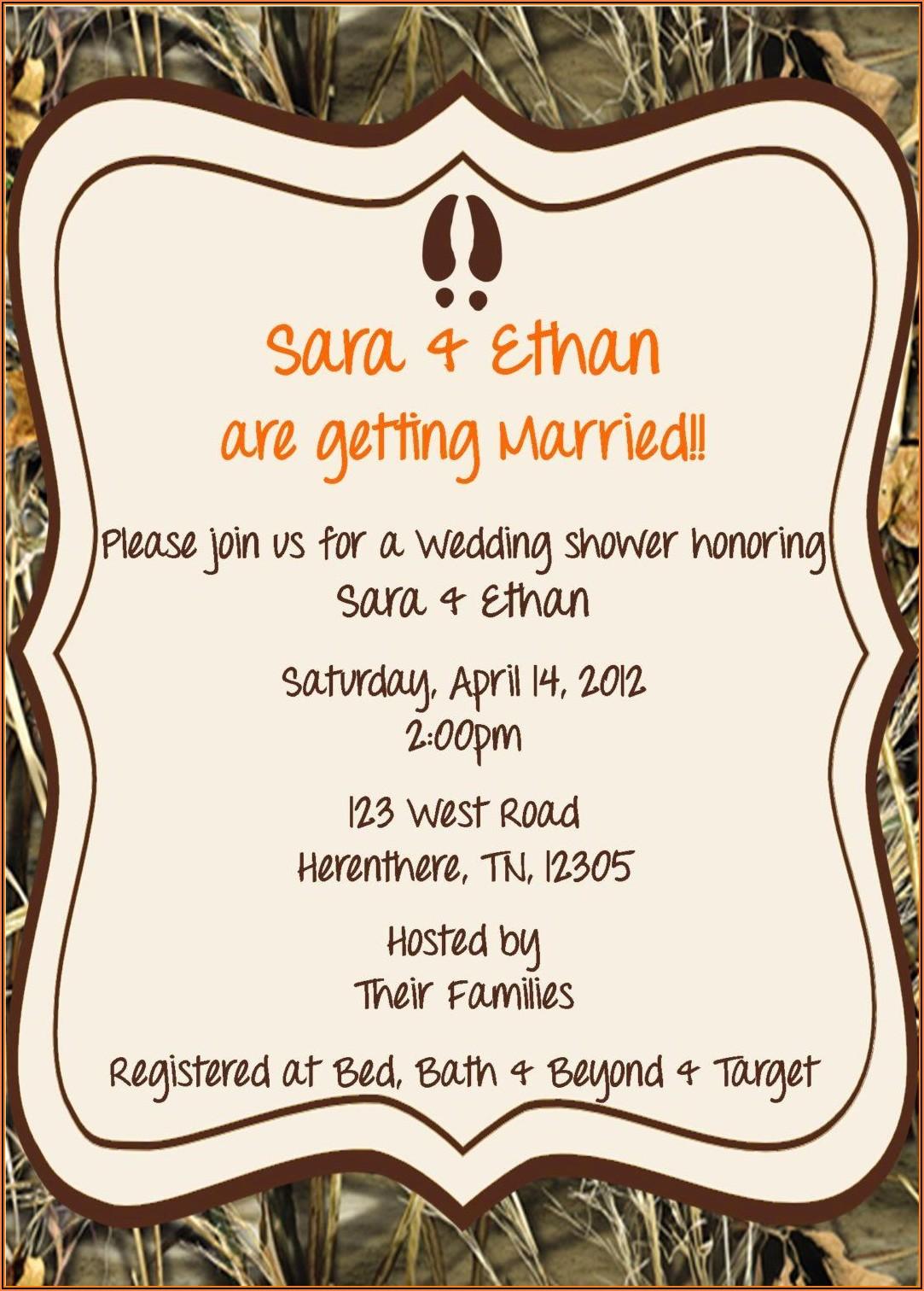 Camo Wedding Invitation Templates