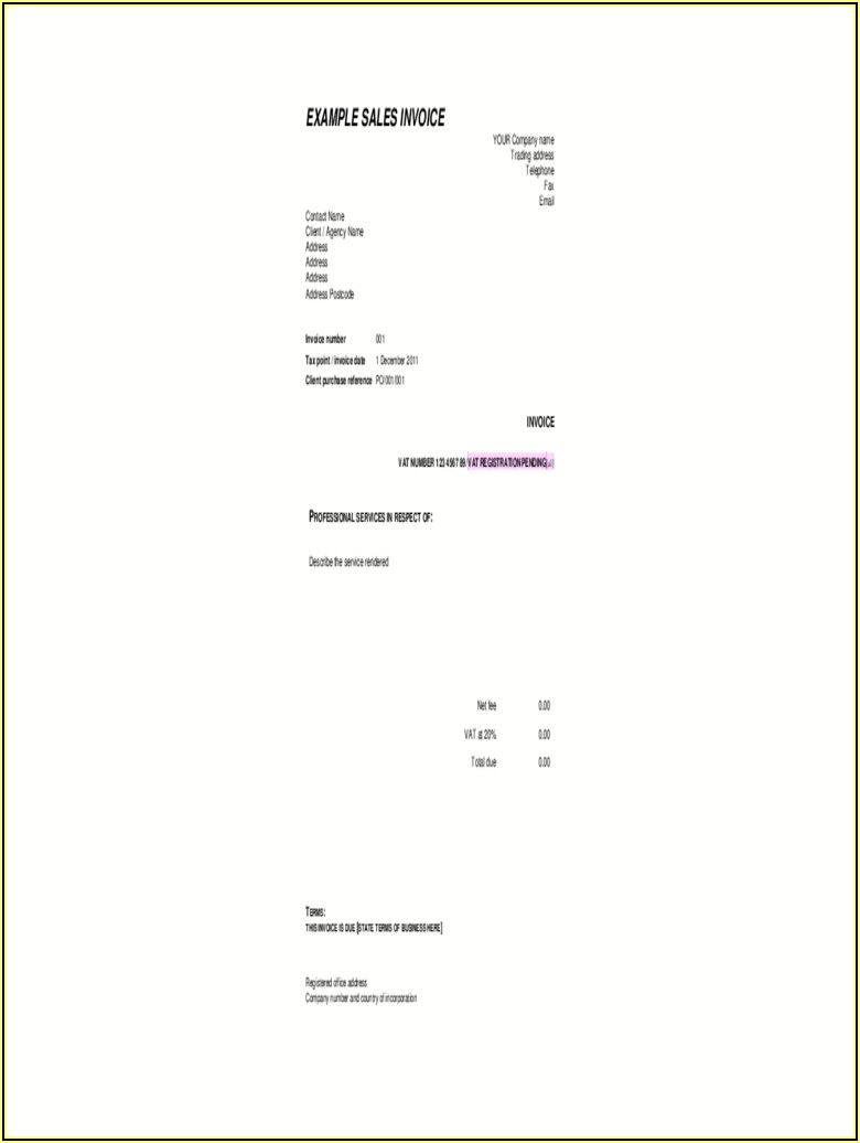 Canadian Customs Invoice Word Document