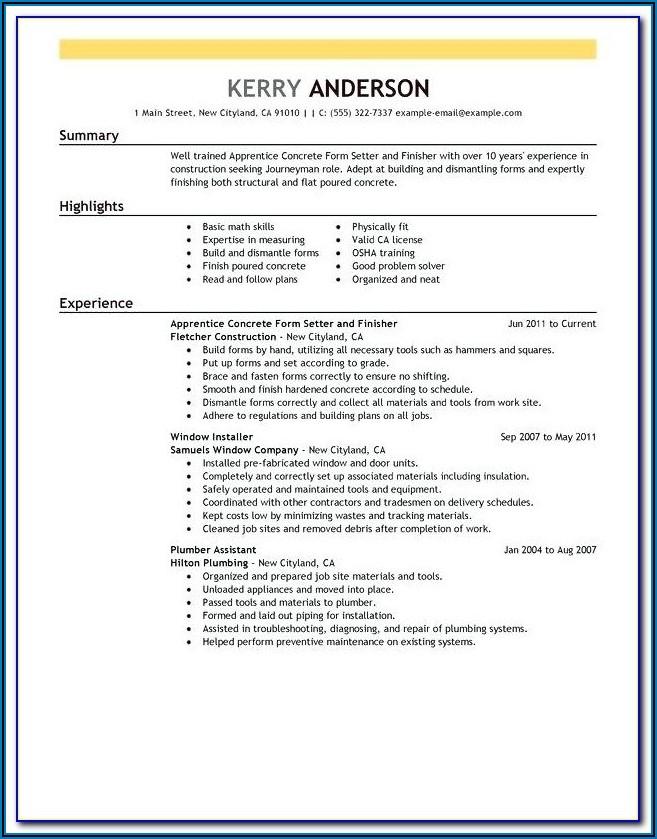 Carpenter Invoice Example Free